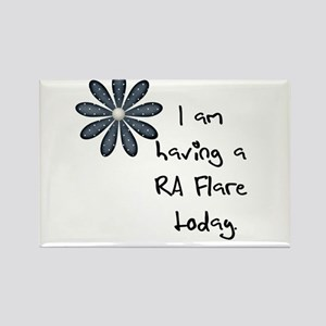 Flower : I am having a RA flare Rectangle Magnet