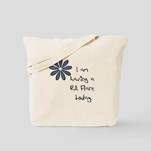 Flower : I am having a RA flare Tote Bag