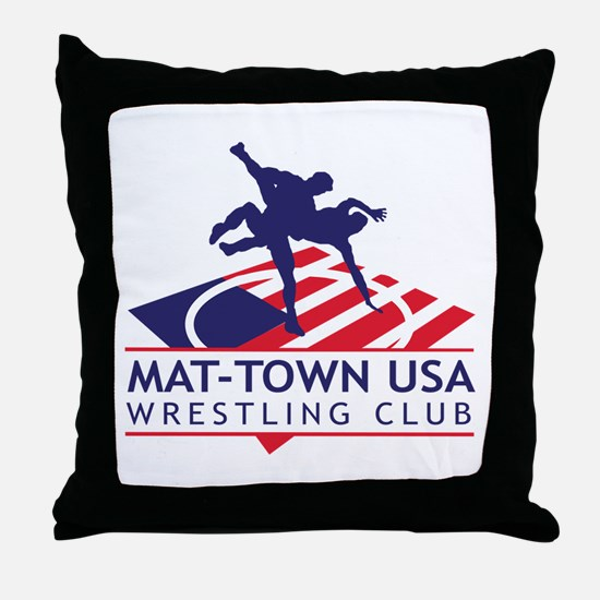 Mat-Town Flag Logo Throw Pillow