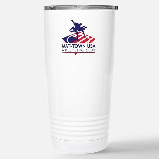 Mat-Town Flag Logo Stainless Steel Travel Mug