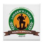 Logger's Lager Tile Coaster