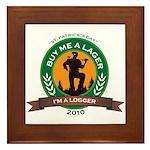 Buy a Lager For a Logger Framed Tile