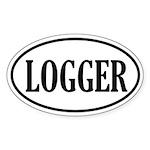 Logger Logging Oval Sticker