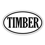 Timber Logging Oval Sticker