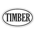 Timber Logging Oval Sticker
