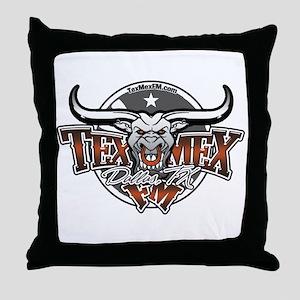 TexMex FM Dallas Gear Throw Pillow