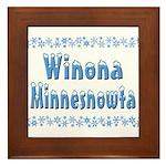 Winona Minnesnowta Framed Tile