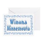 Winona Minnesnowta Greeting Card