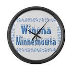 Winona Minnesnowta Large Wall Clock