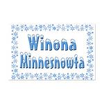 Winona Minnesnowta Mini Poster Print