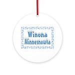Winona Minnesnowta Ornament (Round)