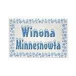 Winona Minnesnowta Rectangle Magnet