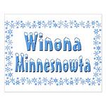 Winona Minnesnowta Small Poster
