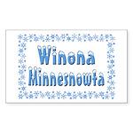 Winona Minnesnowta Rectangle Sticker