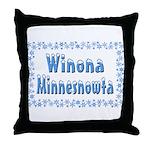 Winona Minnesnowta Throw Pillow