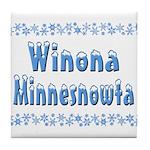 Winona Minnesnowta Tile Coaster
