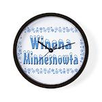 Winona Minnesnowta Wall Clock