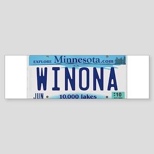 Winona License Plate Bumper Sticker