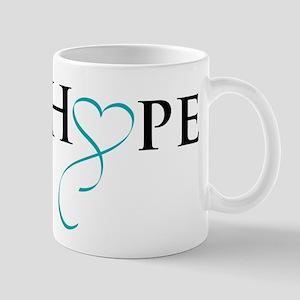 HopeTealRibbon Mugs