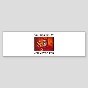 DEVIL IN DISGUISE Bumper Sticker