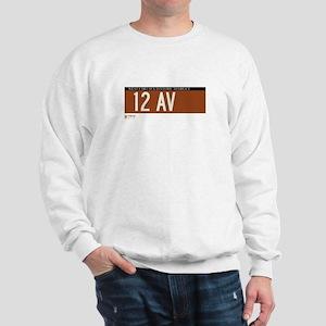 12th Avenue in NY Sweatshirt