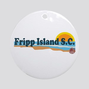 Fripp Island SC - Beach Design Ornament (Round)