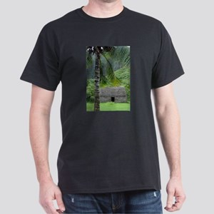 Hawaiian Grass Shack Dark T-Shirt