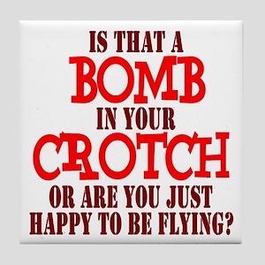 Crotch Bomber Tile Coaster