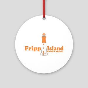 Fripp Island - Lighthouse Design Ornament (Round)