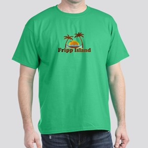 Fripp Island - Sun and Waves Design Dark T-Shirt
