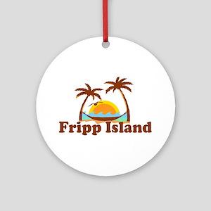 Fripp Island - Sun and Waves Design Ornament (Roun