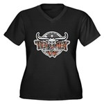 Tejano Music Women's Plus Size V-Neck Dark T-Shirt