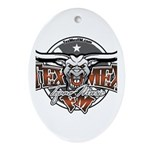 Tejano Music Oval Ornament