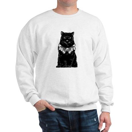 Black Cat with Bow Sweatshirt