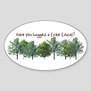 Hug A Tree - Oval Sticker