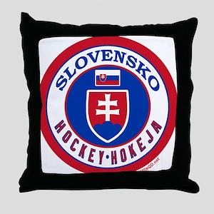 SK Slovakia/Slovensko Hockey Throw Pillow