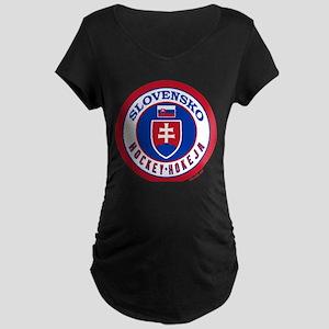 SK Slovakia/Slovensko Hockey Maternity Dark T-Shir