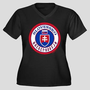 SK Slovakia/Slovensko Hockey Women's Plus Size V-N