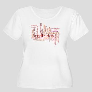 Military Wordle Plus Size Scoop Neck T-Shirt