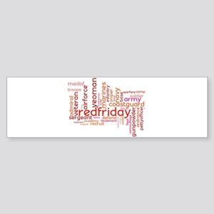 Military Wordle Bumper Sticker