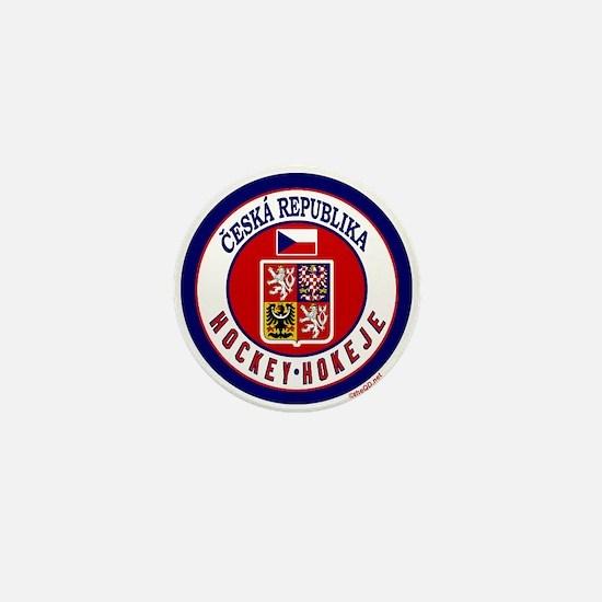 CZ Czech Rep Ice Hockey Mini Button