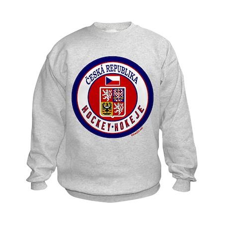 CZ Czech Rep Ice Hockey Kids Sweatshirt