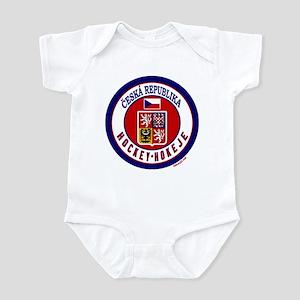 CZ Czech Rep Ice Hockey Infant Bodysuit