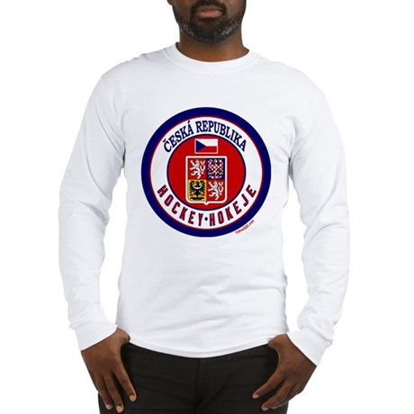 CZ Czech Rep Ice Hockey Long Sleeve T-Shirt