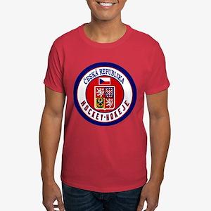 CZ Czech Rep Ice Hockey Dark T-Shirt