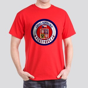 CZ Czech Rep Ice Hockey Dark T-Shirt