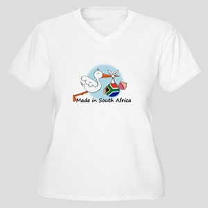 Stork Baby South Africa Women's Plus Size V-Neck T