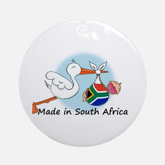 Stork Baby South Africa Ornament (Round)