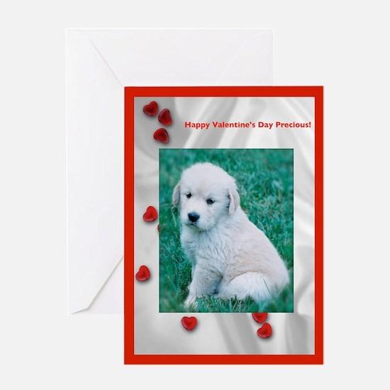 Puppy Valentine Greeting Card