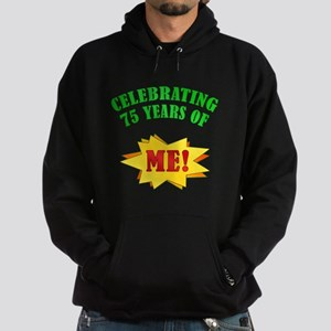 Funny Attitude 75th Birthday Hoodie (dark)